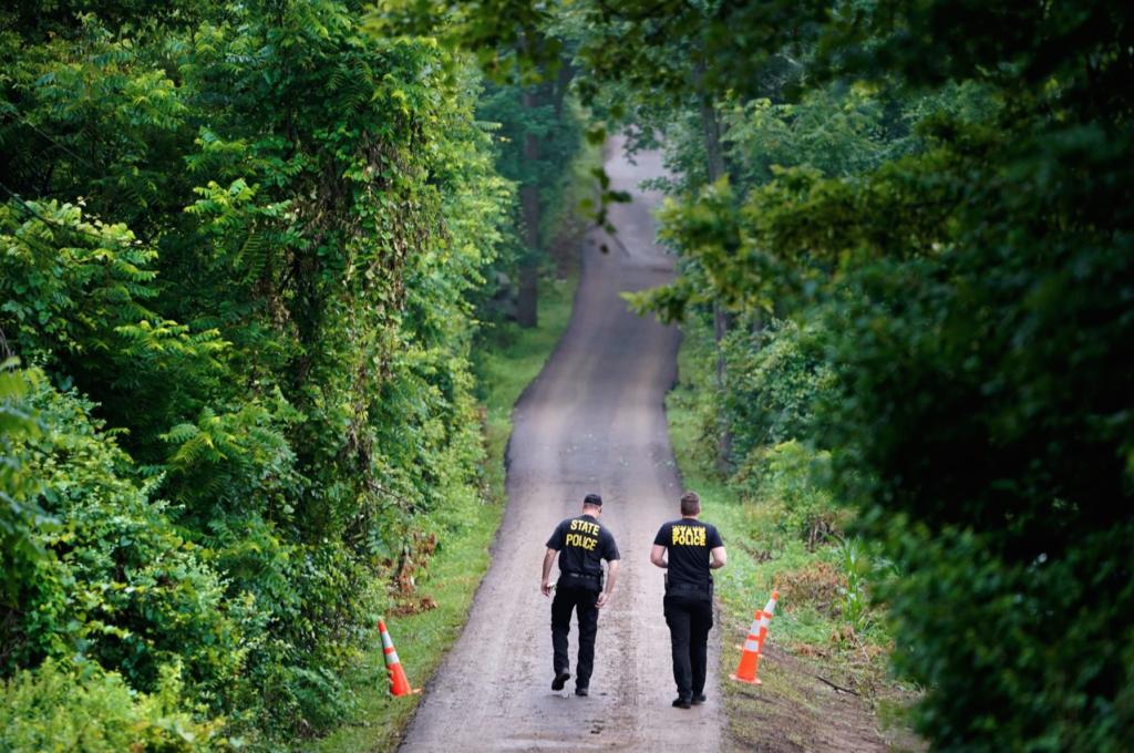 Police on DiNardo driveway