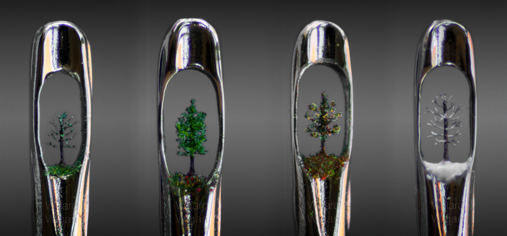 Willard Wigan 4 seasons trees