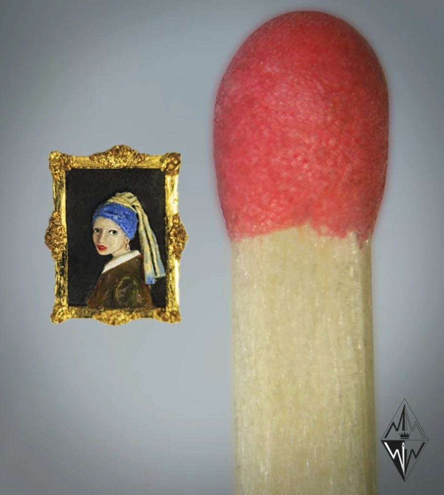 Willard Wigan Girl with a Pearl Earring